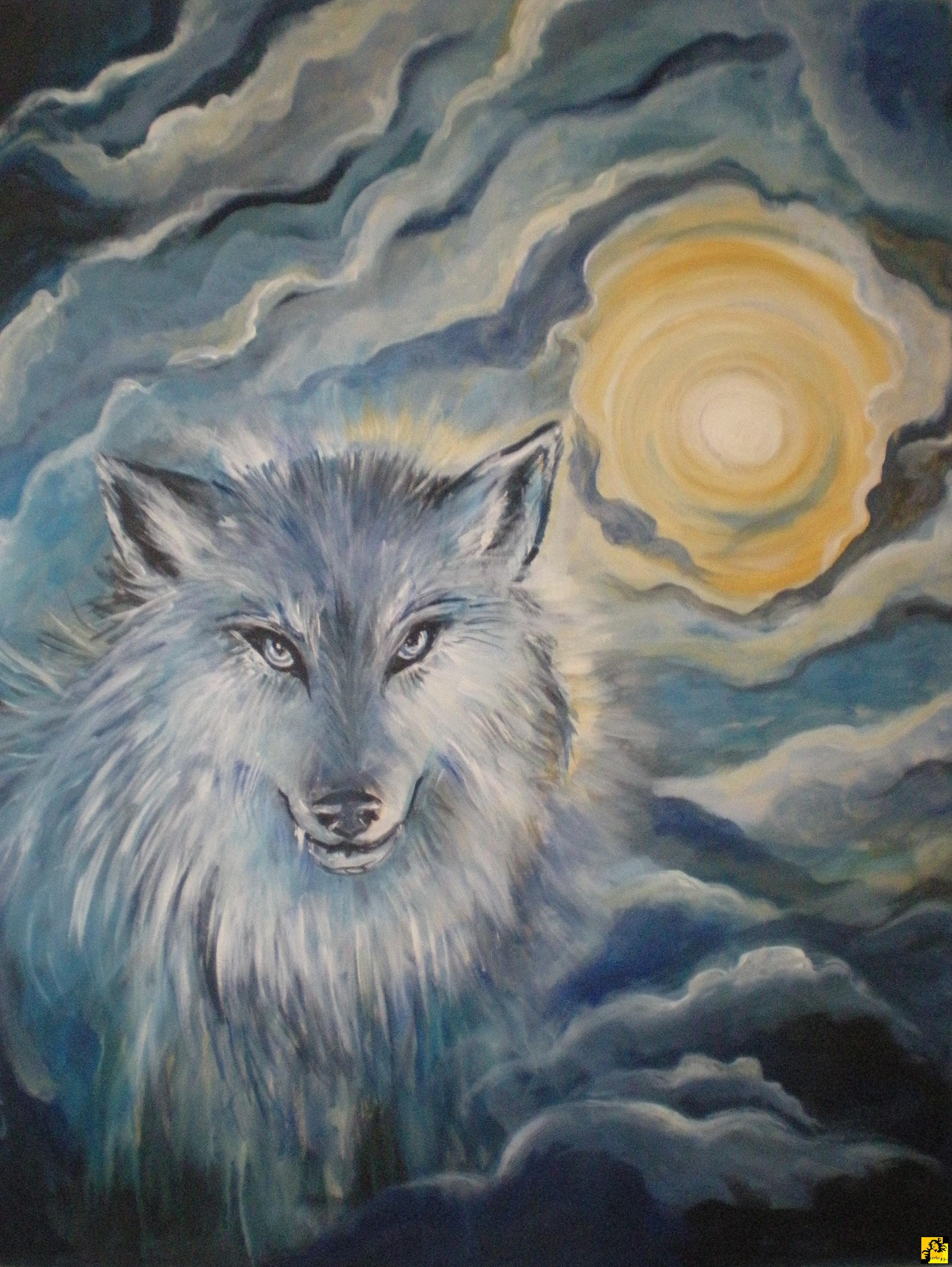 Znalezione obrazy dla zapytania wilk malarstwo