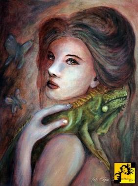 Iguana Olga Dąbrowska - arte-fm-18978-iguana